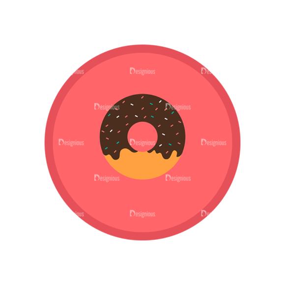 Fast Food Vector Set 1 Vector Donut 1