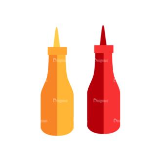 Fast Food Vector Set 3 Vector Sauce Clip Art - SVG & PNG vector