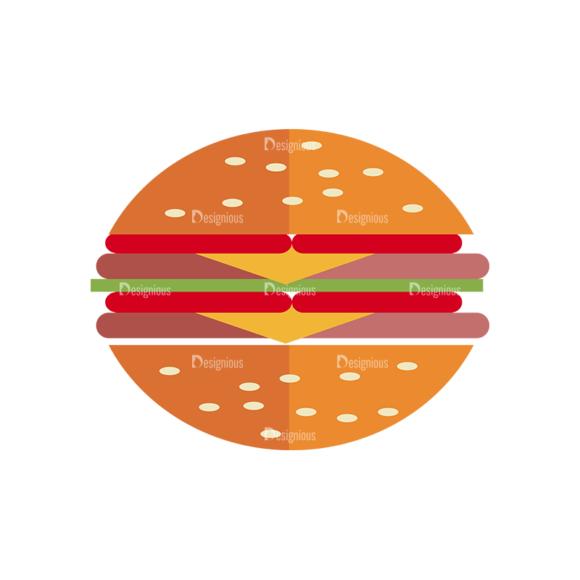 Fast Food Vector Set 3 Vector Burger 02 1