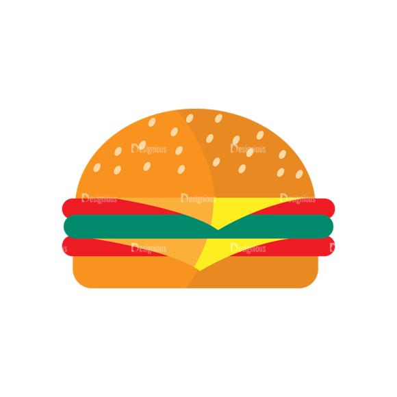 Fast Food Vector Set 3 Vector Burger 15 1