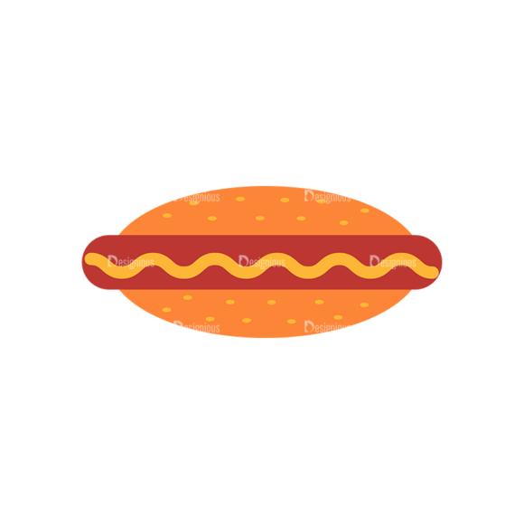 Fast Food Vector Set 3 Vector Hotdog Sandwich 05 1