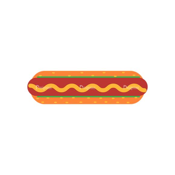 Fast Food Vector Set 3 Vector Hotdog Sandwich 06 1