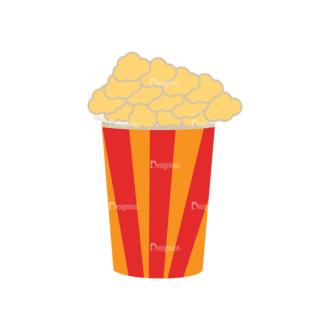 Fast Food Vector Set 3 Vector Popcorn Clip Art - SVG & PNG vector