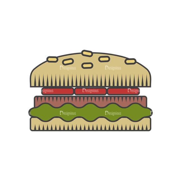 Fast Food Vector Set 4 Vector Burger 1
