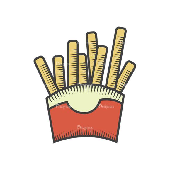 Fast Food Vector Set 4 Vector Fries 5