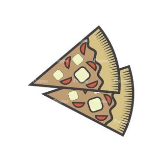 Fast Food Vector Set 4 Vector Pizza Clip Art - SVG & PNG vector