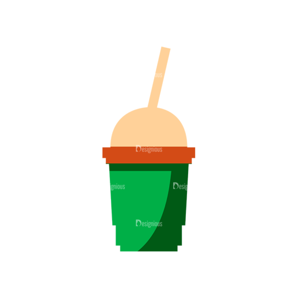 Flat Food Icons Set 5 Vector Drinks 06 5