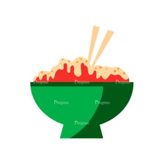 Flat Food Icons Set 5 Vector Food Clip Art - SVG & PNG vector