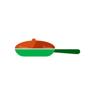 Flat Food Icons Set 5 Vector Pan Clip Art - SVG & PNG vector
