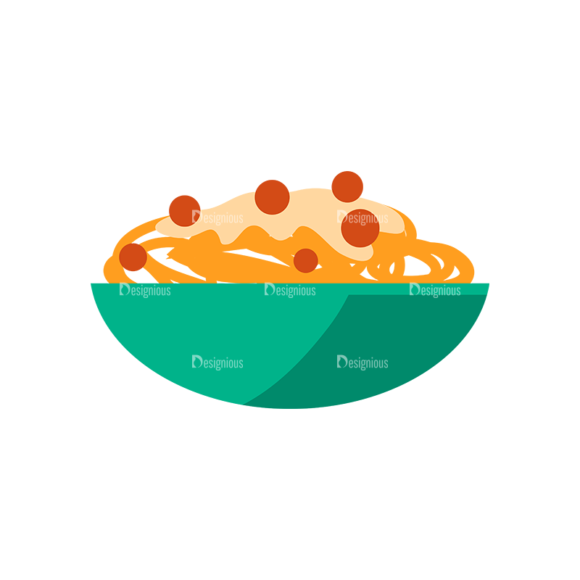 Flat Food Icons Set 5 Vector Pasta Food drinks flat food icons set 5 vector pasta