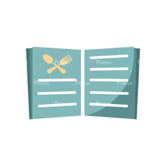 Flat Restaurant Icons Set 2 Vector Menu Book Clip Art - SVG & PNG vector