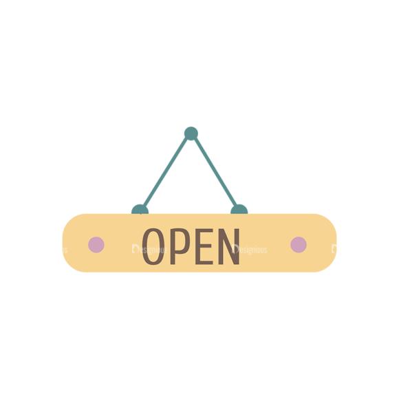 Flat Restaurant Icons Set 2 Vector Open 1