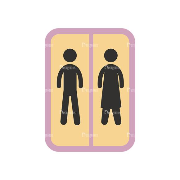 Flat Restaurant Icons Set 2 Vector Signage 1