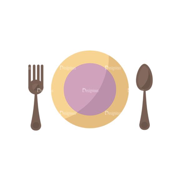 Flat Restaurant Icons Set 2 Vector Utensils 02 1