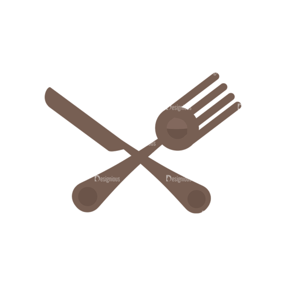 Flat Restaurant Icons Set 2 Vector Utensils 05 1