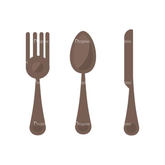Flat Restaurant Icons Set 2 Vector Utensils 07 5