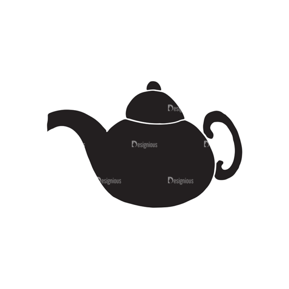 Food And Drinks Elements Set 1 Vector Kettle 1