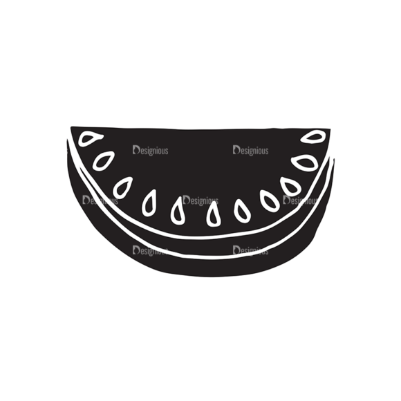Food And Drinks Elements Set 1 Vector Watermelon 1