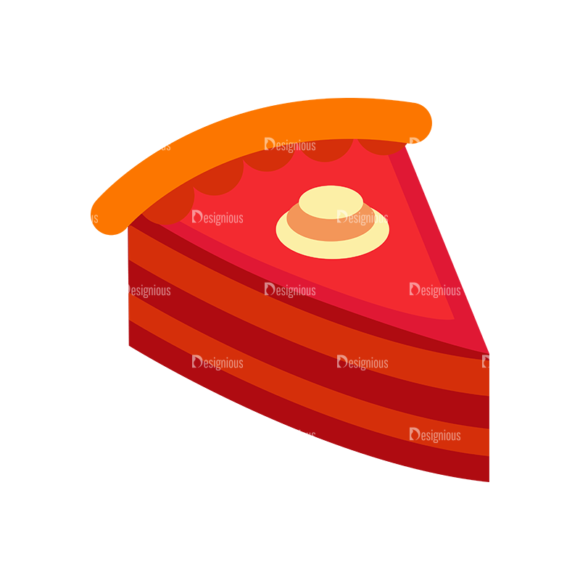 Food And Products Vector Set 7 Vector Cake 1