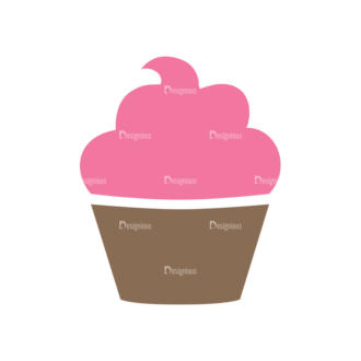 Food And Products Vector Set 7 Vector Cupcake Clip Art - SVG & PNG vector