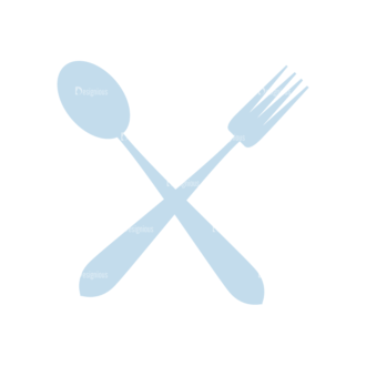 Food And Products Vector Set 7 Vector Spoon Fork Clip Art - SVG & PNG vector