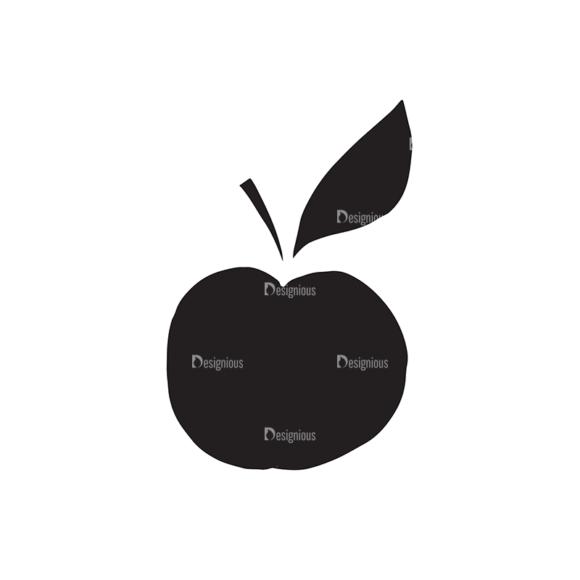 Food Elements Set 1 Vector Apple 1