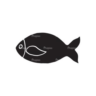 Food Elements Set 1 Vector Fish Clip Art - SVG & PNG vector