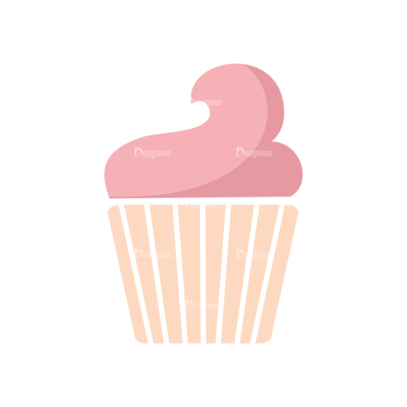 Food Icons Vector Set 2 Vector Cupcake 08 Food drinks food icons vector set 2 vector cupcake 08