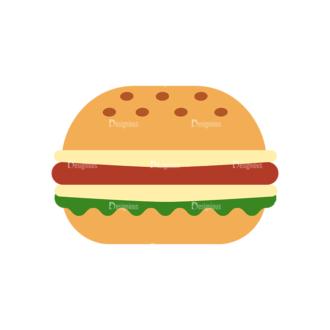 Food Icons Vector Set 3 Vector Burger Clip Art - SVG & PNG vector