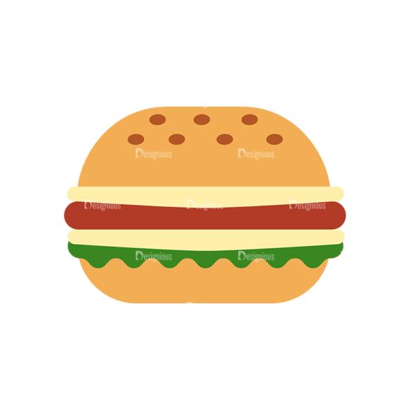 Food Icons Vector Set 3 Vector Burger 1