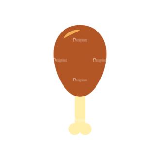 Food Icons Vector Set 3 Vector Chicken Clip Art - SVG & PNG vector