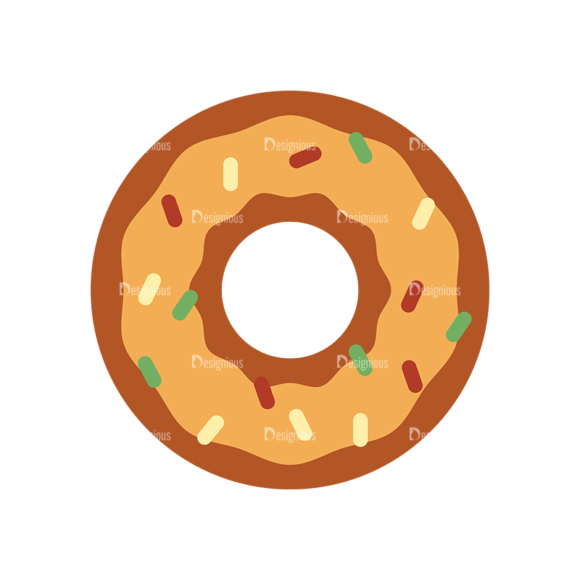 Food Icons Vector Set 3 Vector Donut 1
