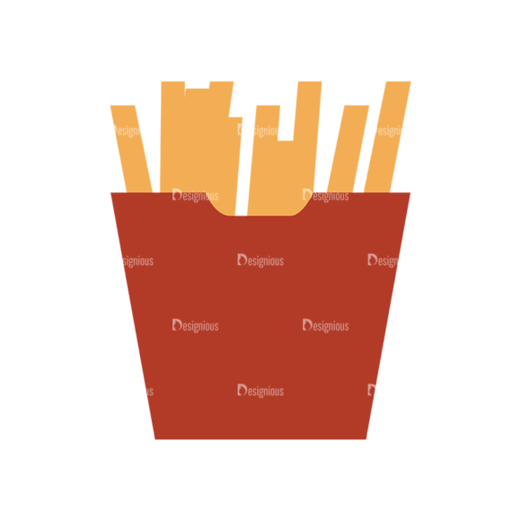 Food Icons Vector Set 3 Vector Fries 1