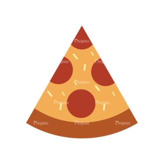 Food Icons Vector Set 3 Vector Pizza Clip Art - SVG & PNG vector