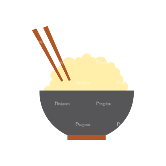 Food Icons Vector Set 3 Vector Rice 1