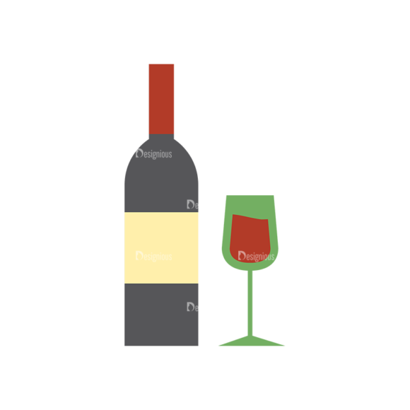 Food Icons Vector Set 3 Vector Wine 1