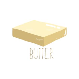 Food Recipe Vector Set 1 Vector Butter 09 Clip Art - SVG & PNG vector
