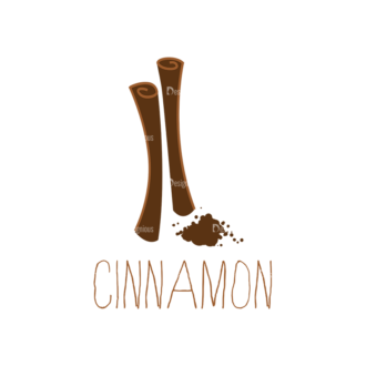 Food Recipe Vector Set 1 Vector Cinnamon Clip Art - SVG & PNG vector