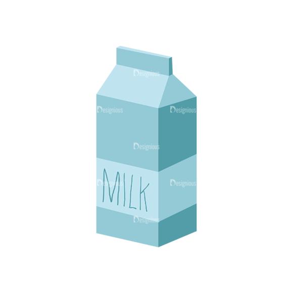 Food Recipe Vector Set 1 Vector Milk 1
