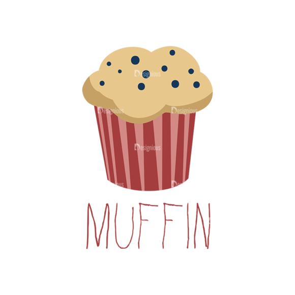 Food Recipe Vector Set 1 Vector Muffin 12 1