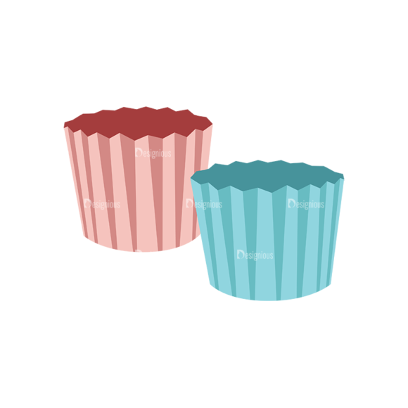 Food Recipe Vector Set 1 Vector Muffin Cup 1