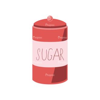 Food Recipe Vector Set 1 Vector Sugar Clip Art - SVG & PNG vector