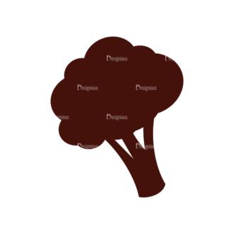 Food Vector Elements Set 1 Vector Broccoli Clip Art - SVG & PNG vector