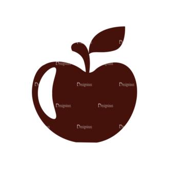Food Vector Elements Set 1 Vector Apple Clip Art - SVG & PNG vector