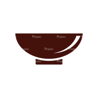 Food Vector Elements Set 1 Vector Bowl Clip Art - SVG & PNG vector