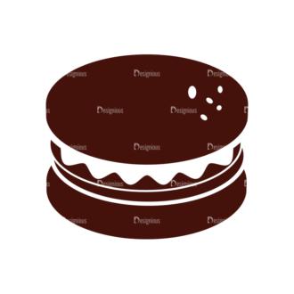 Food Vector Elements Set 1 Vector Burger Clip Art - SVG & PNG vector
