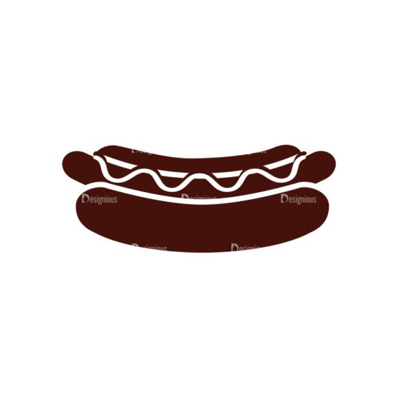 Food Vector Elements Set 1 Vector Hotdog Sandwich 1