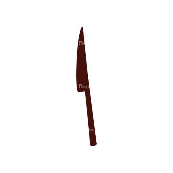 Food Vector Elements Set 1 Vector Knife 1