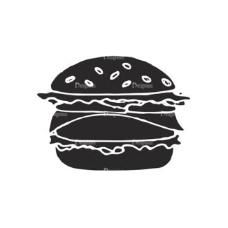 Food Vector Elements Set 2 Vector Burger Clip Art - SVG & PNG vector