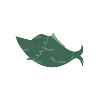 Food Vector Set 2 Vector 1 Fish Clip Art - SVG & PNG vector